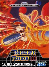 Box cover for Thunder Force III on the Sega Genesis.