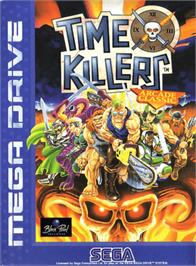Box cover for Time Killers on the Sega Genesis.