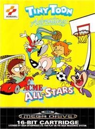Box cover for Tiny Toon Adventures: Acme All-Stars on the Sega Genesis.