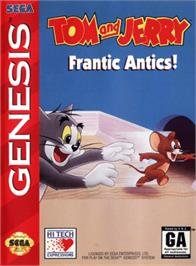 Box cover for Tom and Jerry - Frantic Antics on the Sega Genesis.