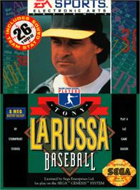 Box cover for Tony La Russa Baseball on the Sega Genesis.