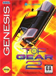 Box cover for Top Gear 2 on the Sega Genesis.