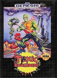 Box cover for Toxic Crusaders on the Sega Genesis.