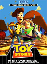 Box cover for Toy Story on the Sega Genesis.