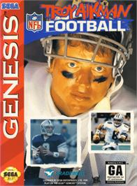 Box cover for Troy Aikman NFL Football on the Sega Genesis.