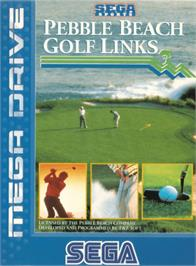 Box cover for True Golf Classics: Pebble Beach Golf Links on the Sega Genesis.