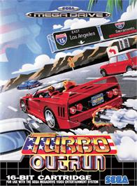 Box cover for Turbo Out Run on the Sega Genesis.