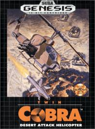 Box cover for Twin Cobra on the Sega Genesis.