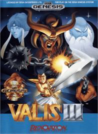 Box cover for Valis 3 on the Sega Genesis.