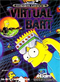Box cover for Virtual Bart on the Sega Genesis.