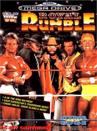 Box cover for WWF Royal Rumble on the Sega Genesis.