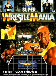 Box cover for WWF Super Wrestlemania on the Sega Genesis.