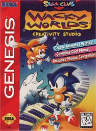 Box cover for Wacky Worlds Creativity Studio on the Sega Genesis.