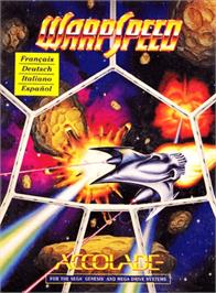 Box cover for Warpspeed on the Sega Genesis.