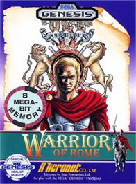 Box cover for Warrior of Rome on the Sega Genesis.