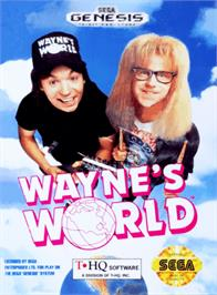 Box cover for Wayne's World on the Sega Genesis.