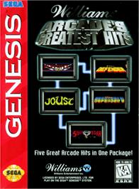 Box cover for Williams Arcade's Greatest Hits on the Sega Genesis.