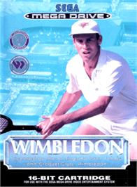 Box cover for Wimbledon Championship Tennis on the Sega Genesis.