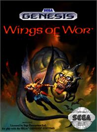 Box cover for Wings of Wor on the Sega Genesis.