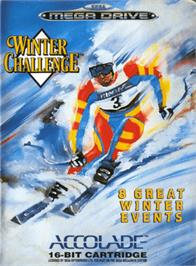 Box cover for Winter Challenge on the Sega Genesis.