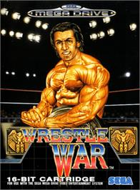 Box cover for Wrestle War on the Sega Genesis.
