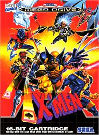 Box cover for X-Men on the Sega Genesis.