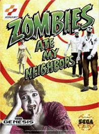 Box cover for Zombies Ate My Neighbors on the Sega Genesis.