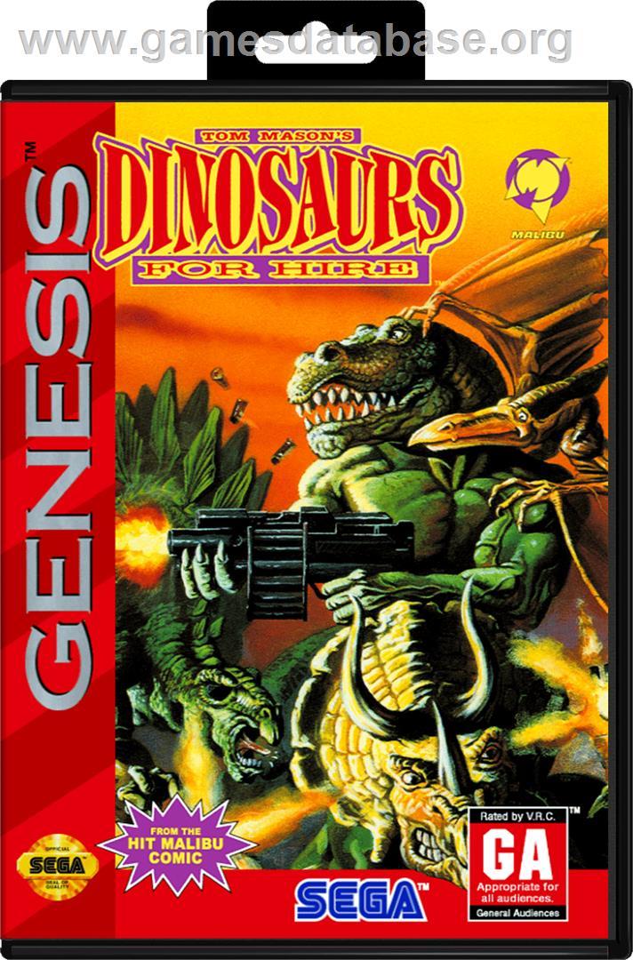 Dinosaurs for Hire - Sega Genesis - Artwork - Box