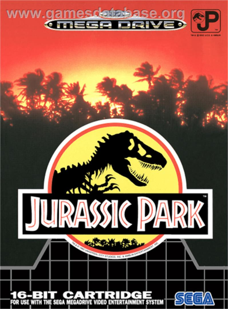 Jurassic Park - Sega Genesis - Artwork - Box
