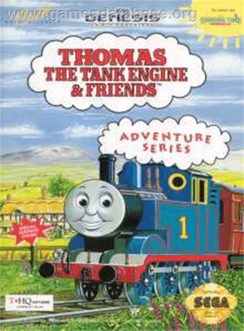 Box cover for Thomas the Tank Engine & Friends on the Sega Genesis.