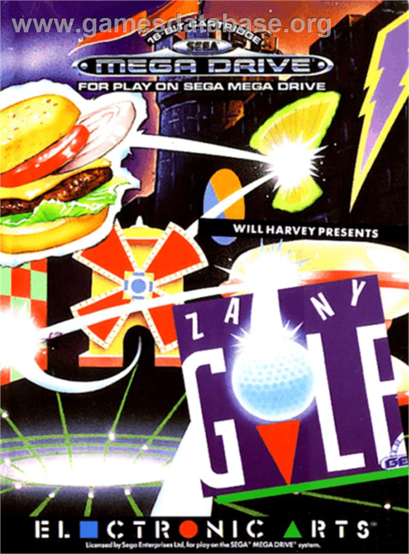 Will Harvey's Zany Golf - Sega Genesis - Artwork - Box