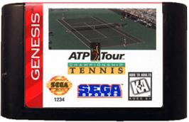 Cartridge artwork for ATP Tour Championship Tennis on the Sega Genesis.
