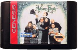 Cartridge artwork for Addams Family, The on the Sega Genesis.