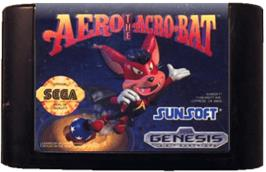 Cartridge artwork for Aero the Acro-Bat on the Sega Genesis.