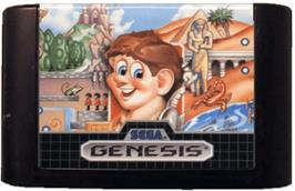 Cartridge artwork for Alex Kidd in the Enchanted Castle on the Sega Genesis.