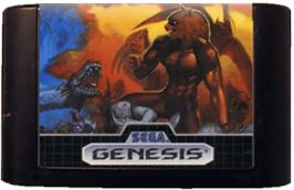 Cartridge artwork for Altered Beast on the Sega Genesis.