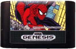Cartridge artwork for Amazing Spider-Man vs. The Kingpin, The on the Sega Genesis.