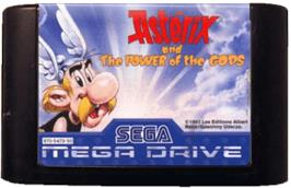 Cartridge artwork for Asterix and the Power of the Gods on the Sega Genesis.