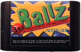 Cartridge artwork for Ballz 3D on the Sega Genesis.