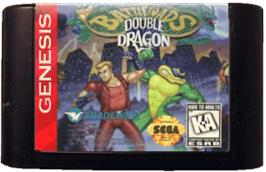 Cartridge artwork for Battletoads & Double Dragon: The Ultimate Team on the Sega Genesis.