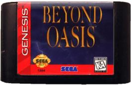 Cartridge artwork for Beyond Oasis on the Sega Genesis.