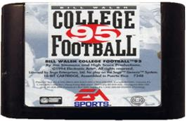 Cartridge artwork for Bill Walsh College Football 95 on the Sega Genesis.