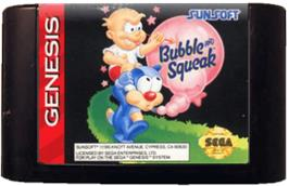Cartridge artwork for Bubble and Squeak on the Sega Genesis.