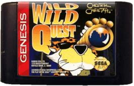 Cartridge artwork for Chester Cheetah: Wild Wild Quest on the Sega Genesis.