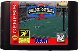 Cartridge artwork for College Football's National Championship II on the Sega Genesis.