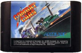 Cartridge artwork for Combat Cars on the Sega Genesis.