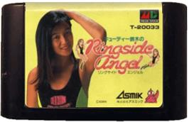Cartridge artwork for Cutie Suzuki no Ringside Angel on the Sega Genesis.
