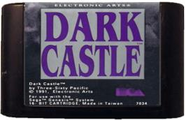 Cartridge artwork for Dark Castle on the Sega Genesis.