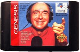 Cartridge artwork for Dick Vitale's