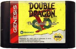 Cartridge artwork for Double Dragon V: The Shadow Falls on the Sega Genesis.